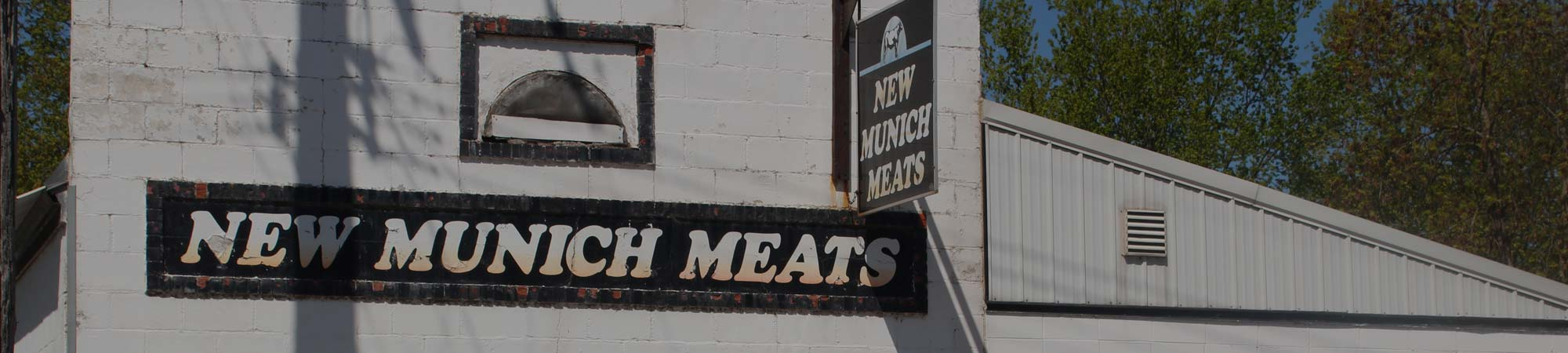 Exterior of New Munich Meats in New Munich, Minnesota